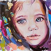 Картины и панно handmade. Livemaster - original item Girl-universe - portrait oil painting. Handmade.