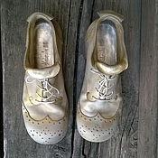 Обувь ручной работы. Ярмарка Мастеров - ручная работа Кожаные ботинки STARDUST. Handmade.