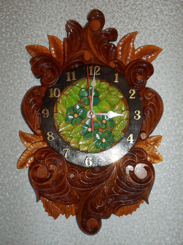 """Часы для дома ручной работы. Ярмарка Мастеров - ручная работа. Купить Настенные часы """"Утренняя заря"""". Handmade. Коричневый"""