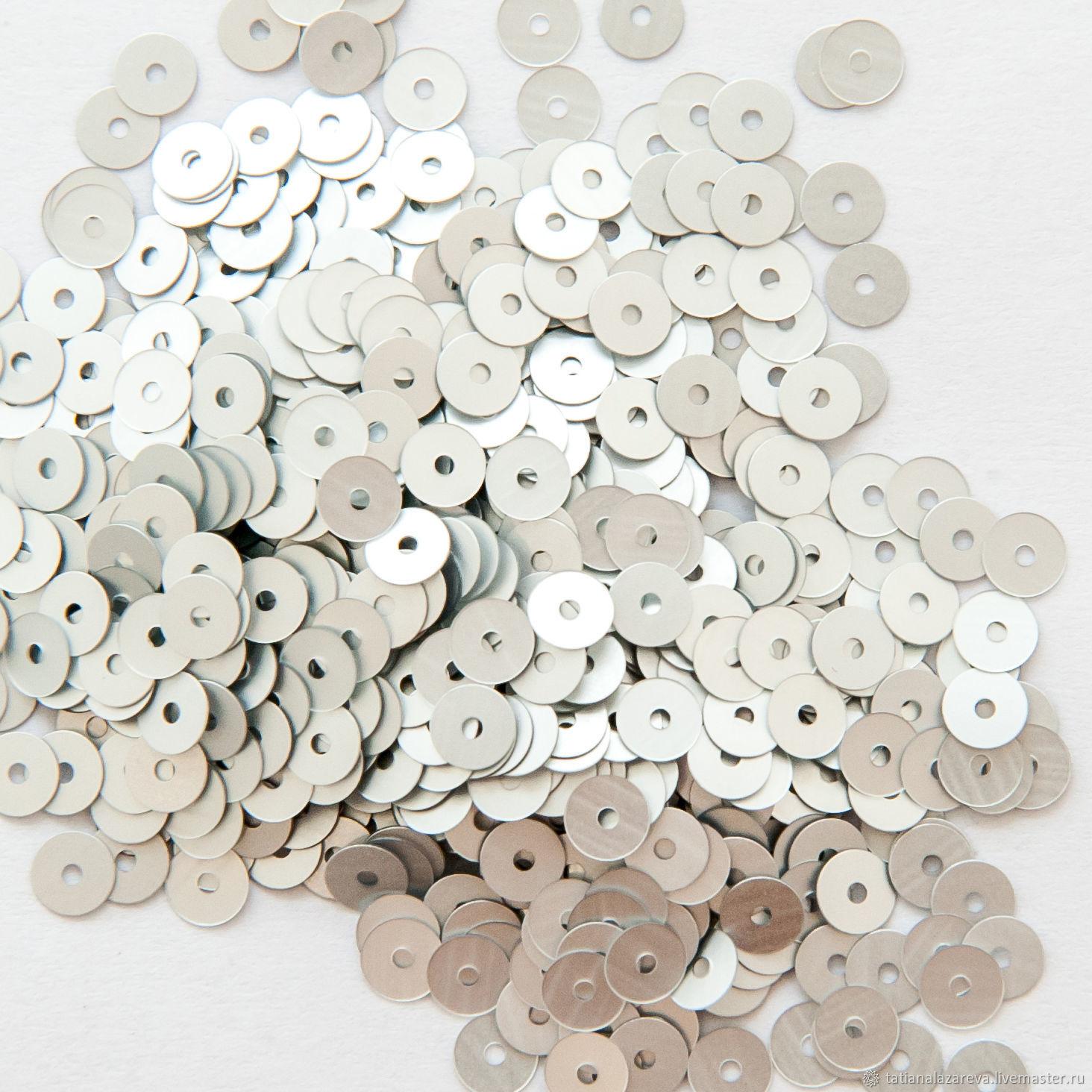 Пайетки итальянские, плоские, 4 мм №1111, Вышивка, Новосибирск, Фото №1