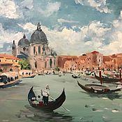 Картины ручной работы. Ярмарка Мастеров - ручная работа Полдень в Венеции. Handmade.