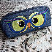 Сумки и аксессуары handmade. Livemaster - original item Glasses case textile Owl. Handmade.