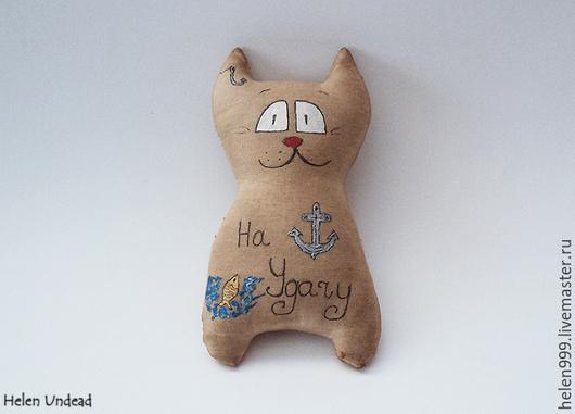 Ароматизированные куклы ручной работы. Ярмарка Мастеров - ручная работа. Купить Чердачные коты. Handmade. Бежевый, тонировка, бязь