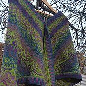 Аксессуары handmade. Livemaster - original item Shawl knitted Moss handmade gift.Green. Handmade.