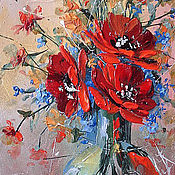 Картины и панно handmade. Livemaster - original item Bouquet of poppies. Handmade.