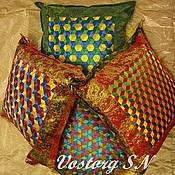 Для дома и интерьера ручной работы. Ярмарка Мастеров - ручная работа Нарядные подушки (Японское плетение). Handmade.