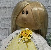 Куклы и игрушки ручной работы. Ярмарка Мастеров - ручная работа Куколка в желтом. Handmade.