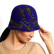 """Шляпы ручной работы. Ярмарка Мастеров - ручная работа Фетровая шляпка клош """"Эгоист"""". Handmade."""