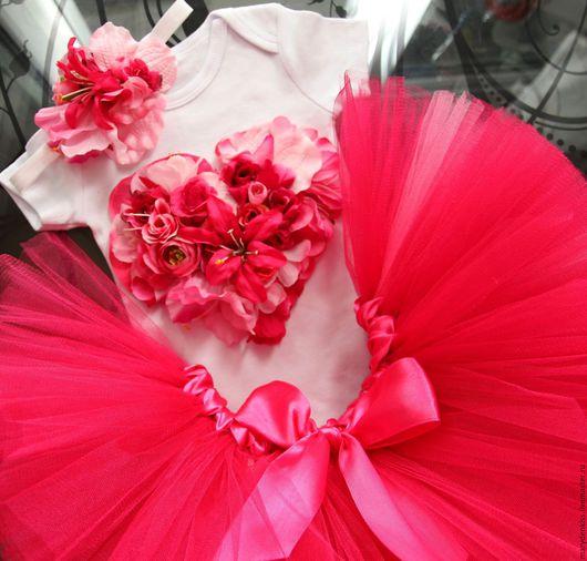 Одежда для девочек, ручной работы. Ярмарка Мастеров - ручная работа. Купить Наряд принцессы на годовасие. Handmade. Бледно-розовый, tutu