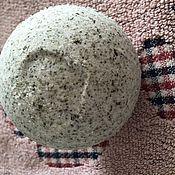 Косметика ручной работы. Ярмарка Мастеров - ручная работа Гейзер (бомбочка) для ванной с Крымской солью и ламинарией. Handmade.
