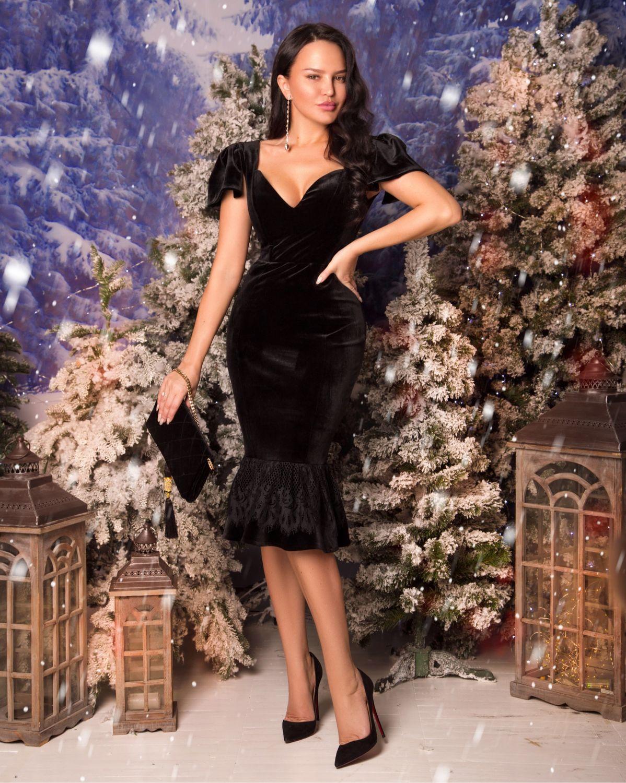 Бархатное платье футляр BLIND 00600, Платья, Харьков,  Фото №1