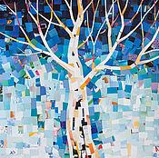Картины и панно ручной работы. Ярмарка Мастеров - ручная работа Дерево весны. Коллаж, картина.. Handmade.
