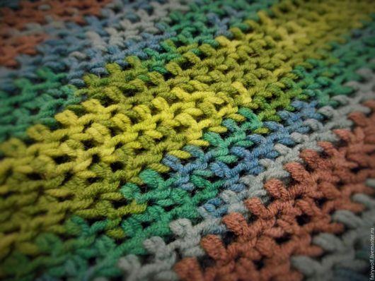 """Шарфы и шарфики ручной работы. Ярмарка Мастеров - ручная работа. Купить Яркий Снуд-горжетка """"Green rainbow"""". Handmade. Комбинированный"""