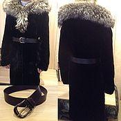 Одежда handmade. Livemaster - original item Fur coat from nature. fur (beaver and silver Fox) - sewing on a new model.. Handmade.