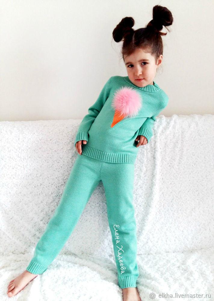вязаный костюм мороженка купить в интернет магазине на ярмарке