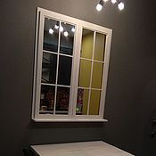 """Для дома и интерьера ручной работы. Ярмарка Мастеров - ручная работа Зеркало """"Окно"""". Handmade."""