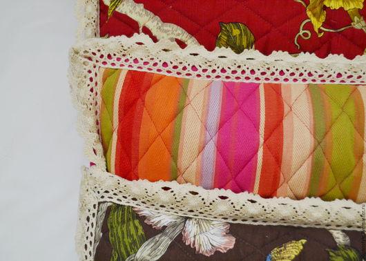 Текстиль, ковры ручной работы. Ярмарка Мастеров - ручная работа. Купить Набор декоративных подушек. Handmade. Бордовый, Подушки, лён