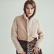 Одежда ручной работы. Ярмарка Мастеров - ручная работа Шуба из стриженного бобра розовая. Handmade.