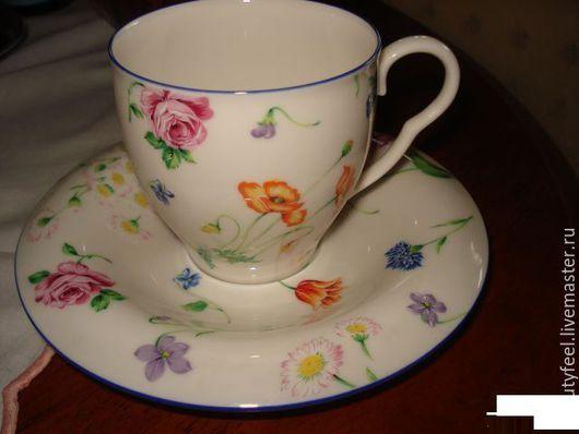 Винтажная посуда. Ярмарка Мастеров - ручная работа. Купить чашка Кензо Kenzo винтаж цветы Япония. Handmade. Фарфоровая чашка