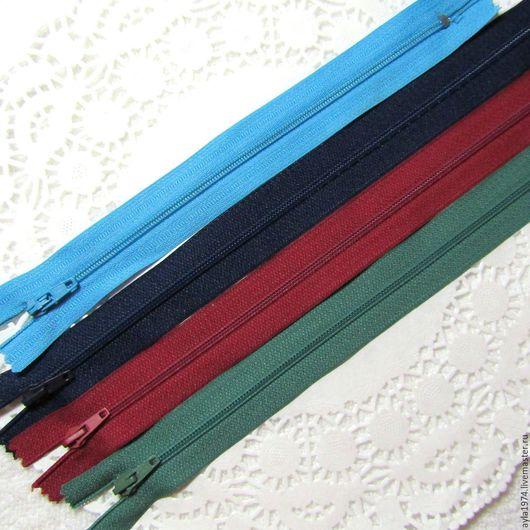 """Шитье ручной работы. Ярмарка Мастеров - ручная работа. Купить Застёжка """"молния"""", 20-25 см. Handmade. Комбинированный, синий"""