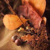 """Украшения ручной работы. Ярмарка Мастеров - ручная работа Серьги """"Осенний желудь"""". Handmade."""