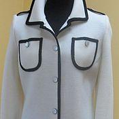 """Одежда ручной работы. Ярмарка Мастеров - ручная работа пальто """"Чёрное на белом """". Handmade."""