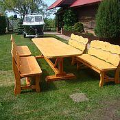 Комплекты садовой мебели ручной работы. Ярмарка Мастеров - ручная работа Мебель для дачи и сада. Handmade.