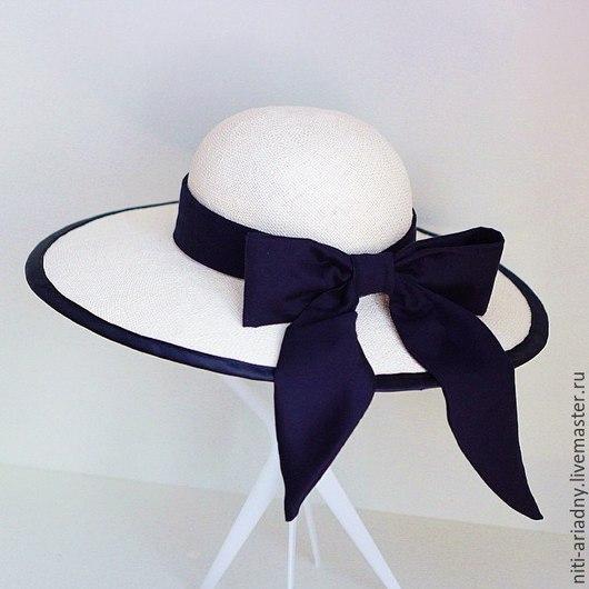 """Шляпы ручной работы. Ярмарка Мастеров - ручная работа. Купить Детская шляпка """"Маленькая леди"""". Handmade. Белый, шляпка с бантом"""