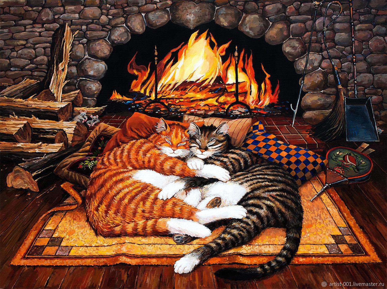 Смешные для, картинки уютного вечера у камина