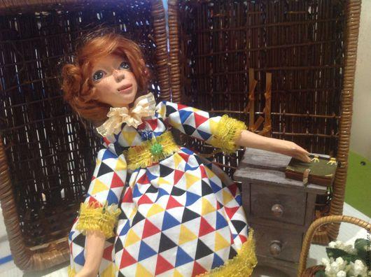 Коллекционные куклы ручной работы. Ярмарка Мастеров - ручная работа. Купить Диана. Handmade. Ярко-красный, кукла болтушка