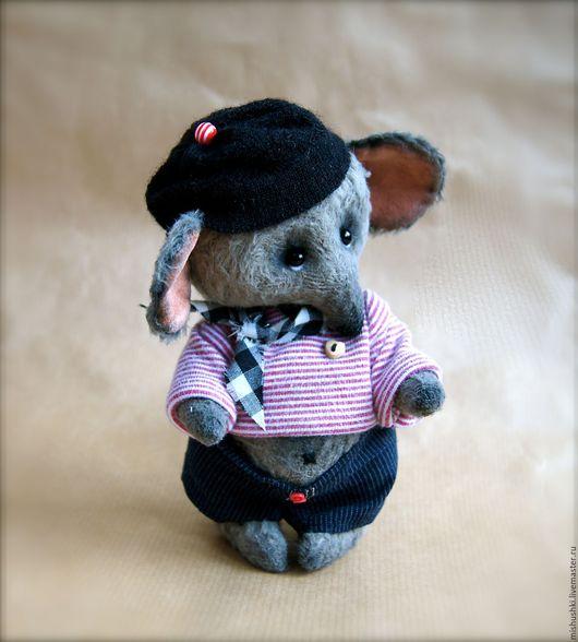 Мишки Тедди ручной работы. Ярмарка Мастеров - ручная работа. Купить Шурик. Handmade. Серый, мышонок, авторская ручная работа
