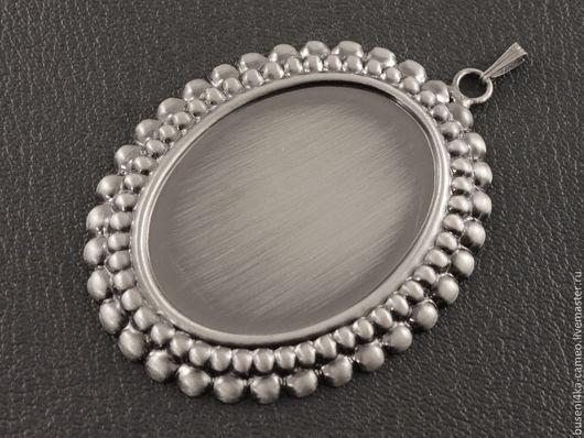 Для украшений ручной работы. Ярмарка Мастеров - ручная работа. Купить Оправа Пена 30х40мм, античное серебро (1шт). Handmade.