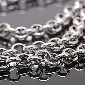 Материалы для творчества handmade. Livemaster - original item 20 cm Rolo Chain 5 mm rhodium plated u. Korea (4152). Handmade.