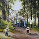 Акварель на шелке, картина в подарок, живопись акварелью, картины для души, акварель, автор Вячеслав Захаров