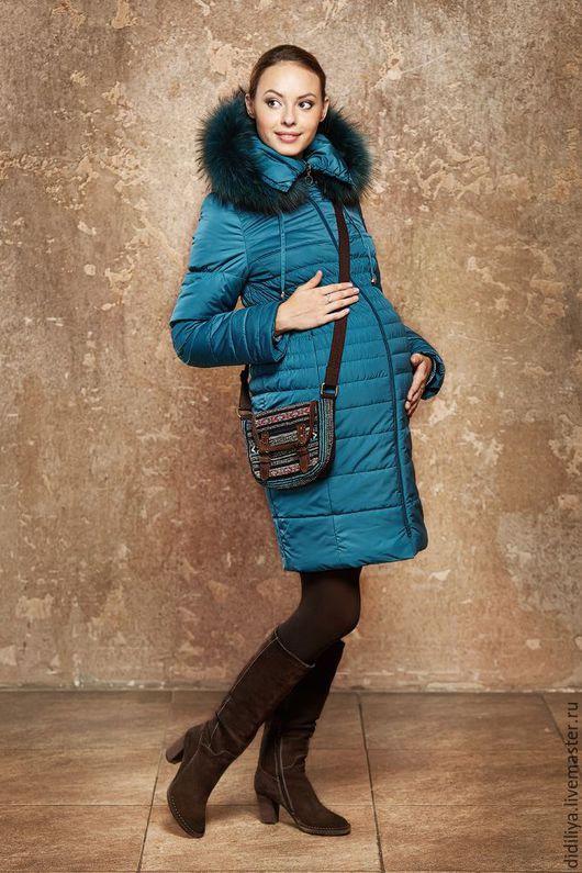 Верхняя одежда ручной работы. Ярмарка Мастеров - ручная работа. Купить Пальто Виченца 44 размер. Handmade. Бирюзовый