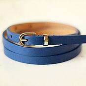 Аксессуары handmade. Livemaster - original item Navy leather belt. Handmade.