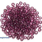 Материалы для творчества handmade. Livemaster - original item 10 grams 6/0 Toho 6B Japanese TOHO seed beads transparent amethyst. Handmade.