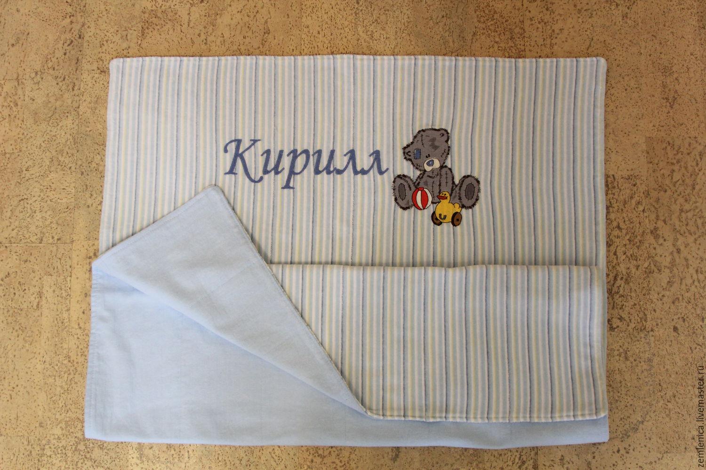 Детское одеяльце с вышивкой