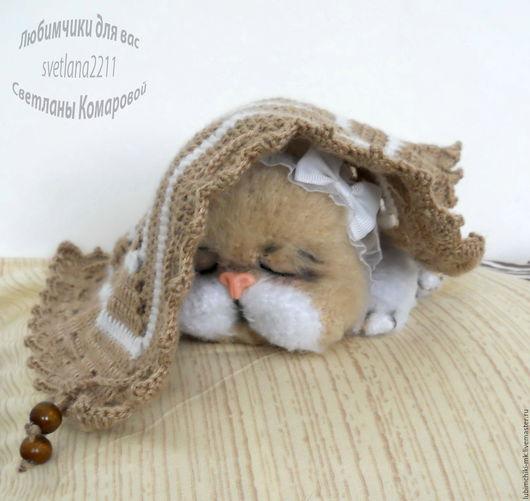 Вязание ручной работы. Ярмарка Мастеров - ручная работа. Купить Кошка Мурочка. Handmade. Комбинированный, Камтекс хлопок травка