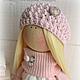 Коллекционные куклы ручной работы. Заказать Кукла-малыш в розово-сливочной гамме. **АSSORTIES** от Людмилы Сухановой. Ярмарка Мастеров. Куколка