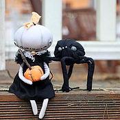 Куклы и игрушки ручной работы. Ярмарка Мастеров - ручная работа Тыква, тыква и паук. Текстильная кукла.. Handmade.