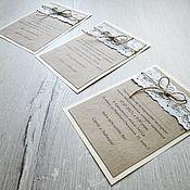 Свадебный салон ручной работы. Ярмарка Мастеров - ручная работа Свадебные пригласительные. Handmade.
