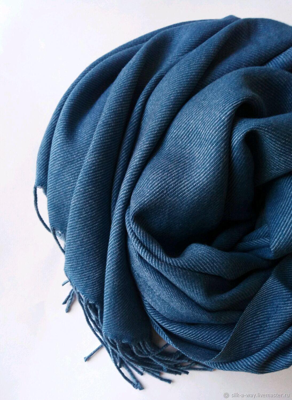 Палантин меланжевый джинсовый и морская волна, Палантины, Москва,  Фото №1
