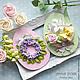 """Яйца ручной работы. Пасхальные сувениры """" Easter day"""". AnnaPokk. Ярмарка Мастеров. Голубой, полимерная глина, цветы из глины"""
