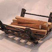 Для дома и интерьера ручной работы. Ярмарка Мастеров - ручная работа Дровница кованая. Handmade.
