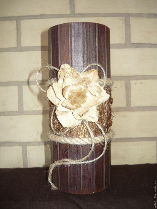 Упаковка ручной работы. Ярмарка Мастеров - ручная работа. Купить Коробка упаковка из бамбука тубус. Handmade. Упаковка, для украшений, бусины