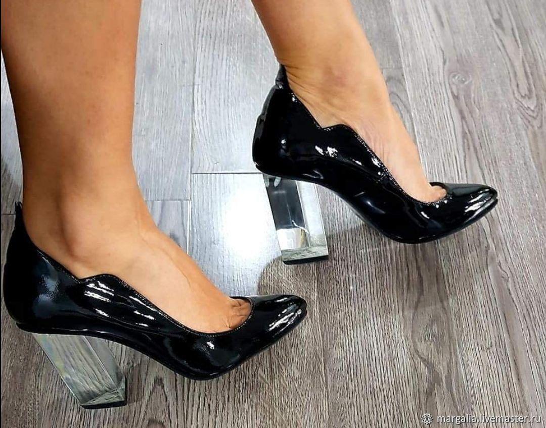 Обувь ручной работы. Ярмарка Мастеров - ручная работа. Купить Туфли из лакированной кожи. Handmade. Туфли, обувь на заказ