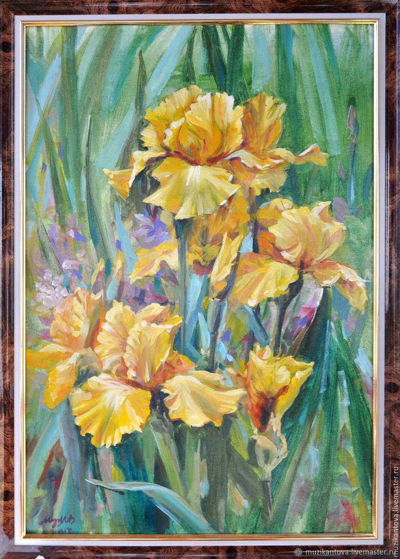 Картина: Желтые Ирисы, Картины, Тула,  Фото №1