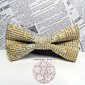 Аксессуары handmade. Livemaster - original item No. №701,Tie Newspaper/antique newspaper/ beige classics 2. Handmade.