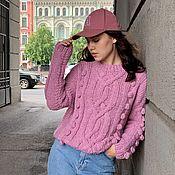 Одежда handmade. Livemaster - original item Jerseys: Women`s oversized alpaca sweater in berry color. Handmade.